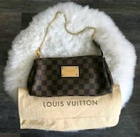 brown and black Louis Vuitton leather crossbody bag New Delhi, 110027