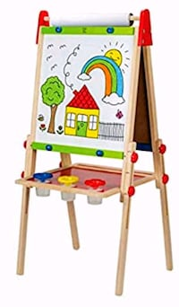 New in box  Hape All-in-One Wooden Kid's Art Easel with Paper Roll