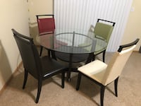 Dining table with 4 chairs and Ikea tablecloth Lincoln, 68504