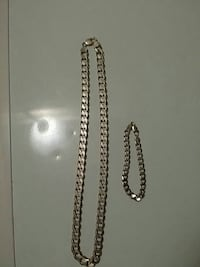 Sterling silver chain and bracelet