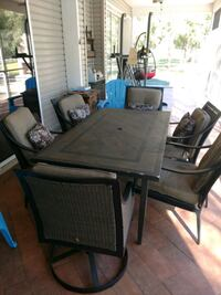 Patio table set.  North Fort Myers, 33917