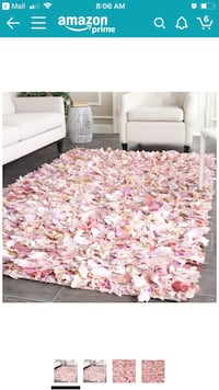 White and red floral area rug Sterling, 20166