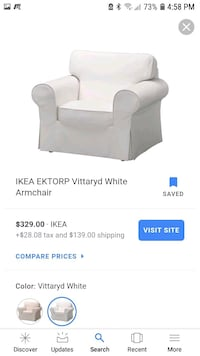 white IKEA arm chair Germantown, 20874