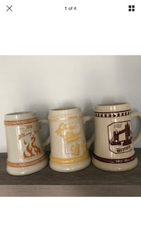 Boscos Stein Collection Mug Club Beer Stein Collectible Pack Of Three