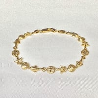 Vintage 14k Yellow Gold Diamond Cut Bracelet Ashburn