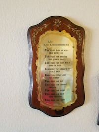 Ten Commandments Plaque  Phoenix, 85053