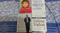 Books on finance, sales and housing