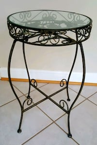 Stylish Metal & Glass Side Table in Antique tone Springfield