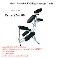 Greenlife NorthYork Portable Folding Massage Chair From $119 Toronto