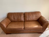 Brown leather couch loveseat coffee table and end table Hamilton, L0R 1P0