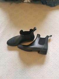 pair of black leather booties. Size 8 Provo, 84606