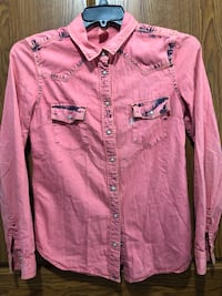 Levi's Women's  denim Pink Jacket/ Shirt Olney, 20832