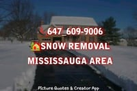 Snow removal Mississauga area Mississauga