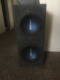 Kenwood Amp and 12' Speakers w box