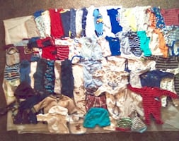 70+ITEMS!(NB-9 Months)Boy Clothes & Jackets Assorted!(Most never used)