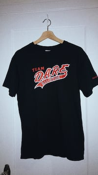 black and red team dare-printed crew-neck t-shirt 3766 km