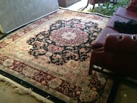 Pistachio, white, maroon,and black floral area rug Denver, 80218