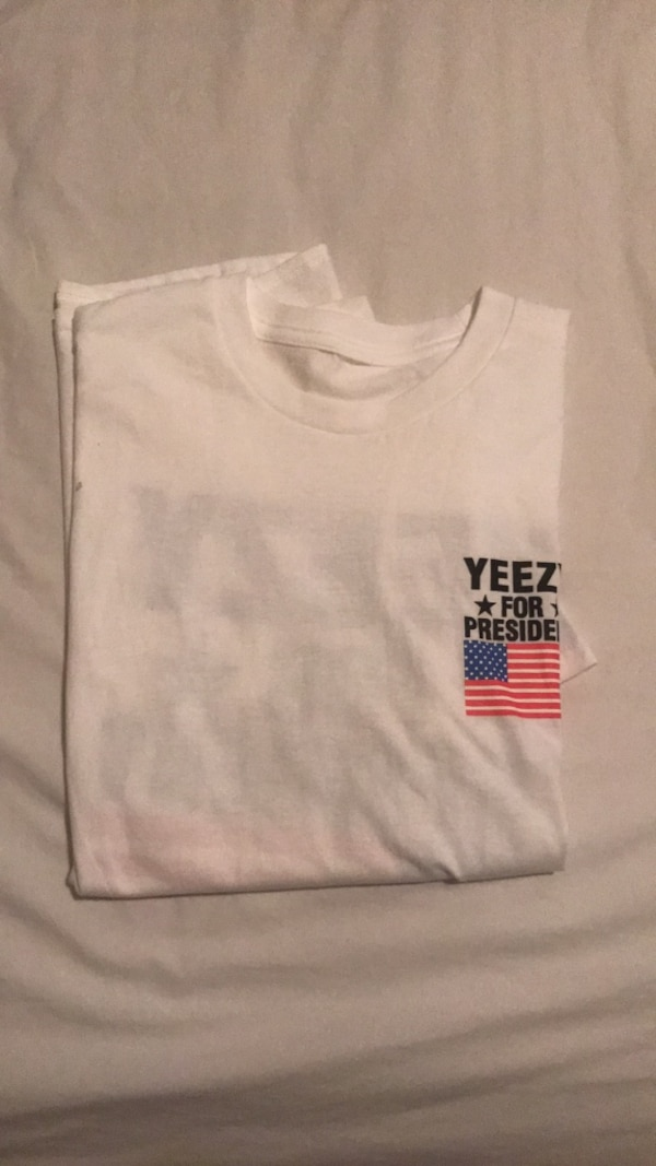 088d9fa6 Used kanye west yeezy for president tee shirt meme size medium for sale in  Frisco - letgo