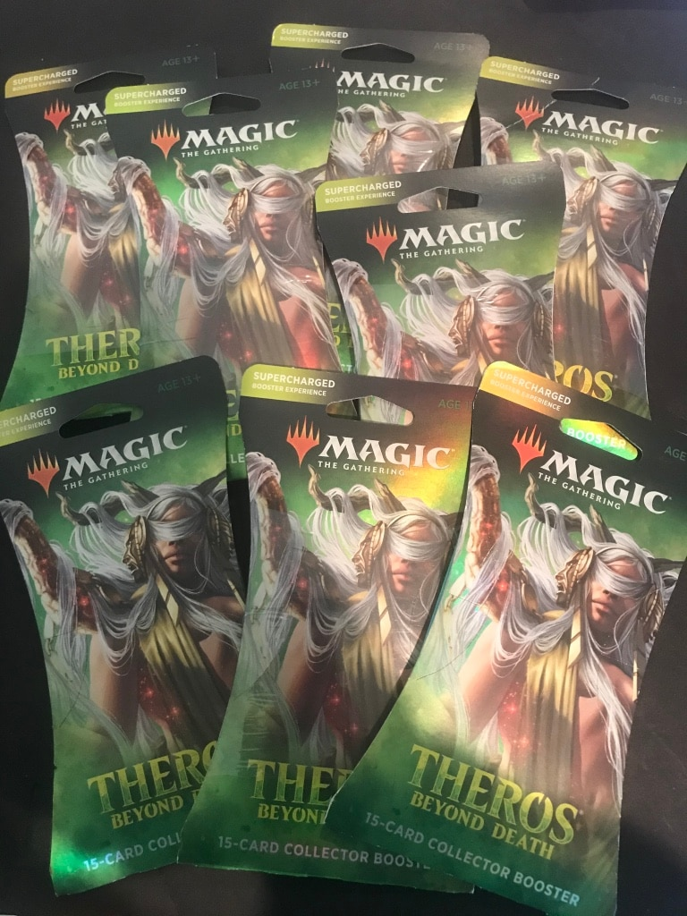 Photo 7 collectors supercharged boosters for magic the gathering. Sealed!