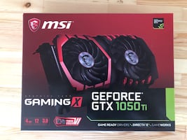 MSİ GEFORCE GTX1050ti GamingX