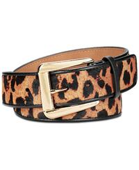 Michael Kors Animal-print Belt (Leopard, XL)