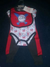 New with tags 3 piece baby boy outfit Byron, 31008