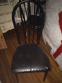 Black leather padded chair  Paterson, 07501