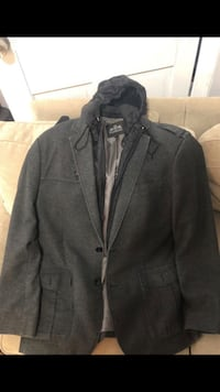 Wool jacket with removable hood Somerville, 02145