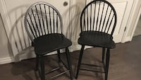 two black wooden windsor chairs Reston, 20190