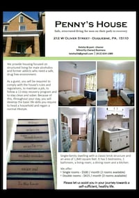 ROOM For Rent 4+BR 1BA Duquesne