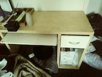 brown and white pedestal desk only Baltimore, 21223