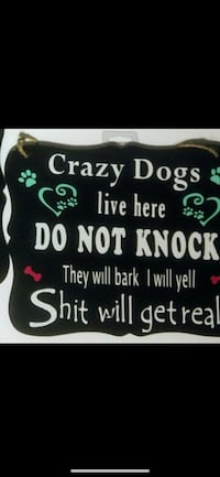 crazy dogs live here do not knock signboard Lake Grove, 11755