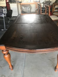 Rectangular brown wooden dining table with 6 chairs . Good condition.. Ashley Brand Dinning Room Set Littlerock, 93543