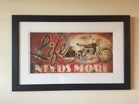 Framed Motorcycle Print Spring Hill, 37174