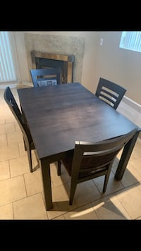 Dining table with four chairs in cherry wood Montréal, H1G 5K5