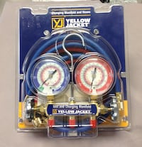 "*BRAND NEW* Yellow jacket 42004 series 41 manifold with 3-1/8"" gauges.  Wethersfield, 06109"