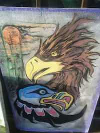 painting of eagle wall decor Vancouver, V6A 1P7