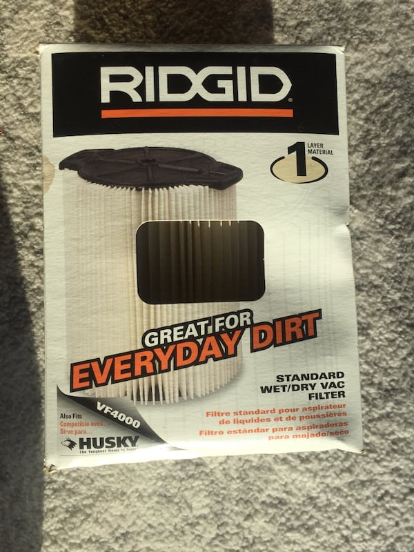 Ridgid VF4000 Wet/Dry Vac Filter for Ridgid 5-20 Gallon Vacuums! 0
