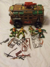 Ninja Turtles Shellraiser Vehicle + extras
