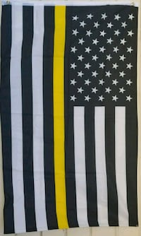 Thin Yellow Line flag size 3ft x 5ft  Colton, 92324