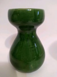 Green vase 8 inches
