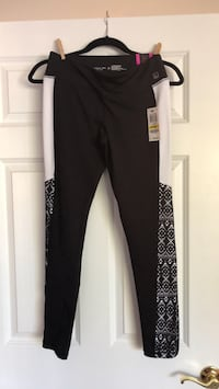 Black and white active wear leggings Saint Augustine, 32092