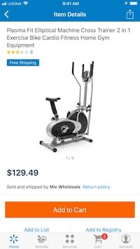 gray and black Plasma Fit elliptical trainer screenshot Florence, 41042