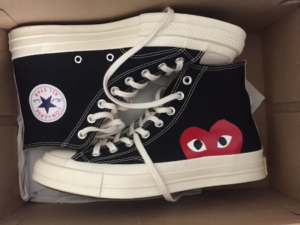 6636c9a7dd3f Used Comme Des Garçons Play x Converse size 8 for sale in San Jose ...