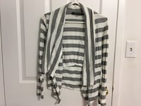 white and gray stripe cardigan Mississauga, L4Y 3G8