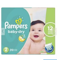 Pampers diapers Size 2 Milton, L9T 0V8