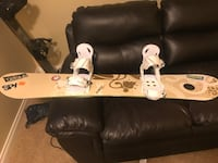 Women's 149 snowboard with bindings