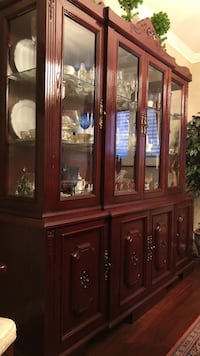 brown wooden framed glass china cabinet Vaughan, L6A 1M6