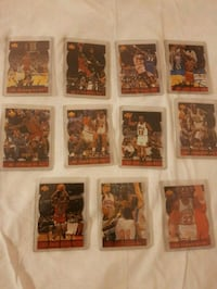 A collection of Michael Jordan timepieces card collection.
