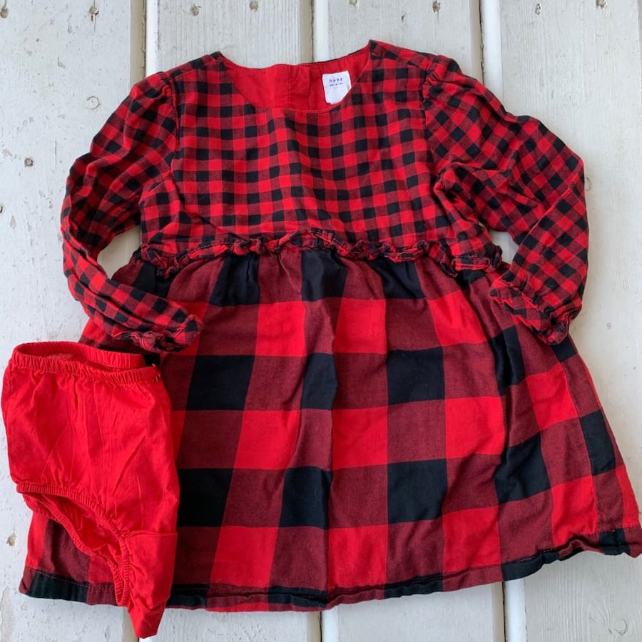 BABY GAP Plaid Dress- 2T